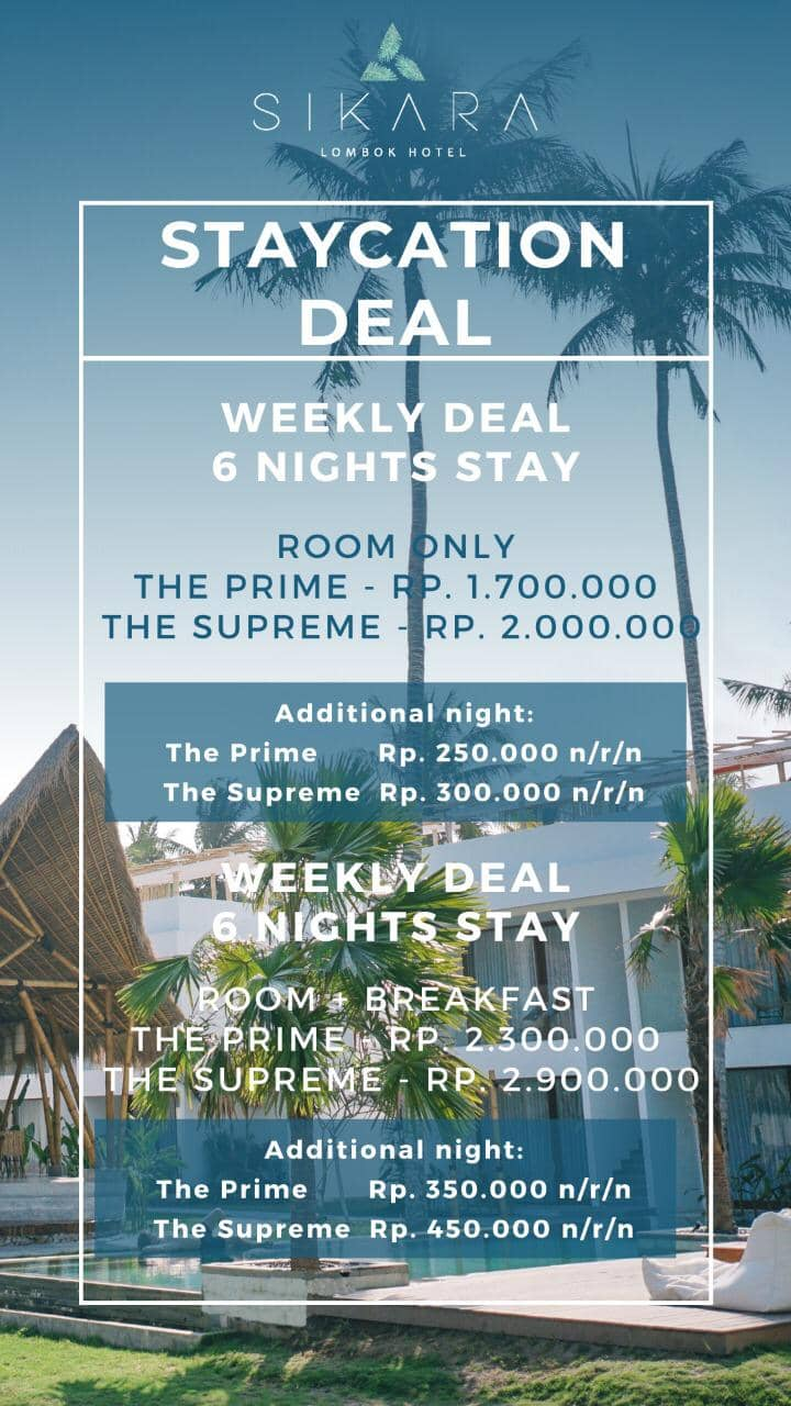 Vacation deal pop-up